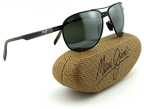 Maui Jim Castles Unisex Polarized Sunglasses (Matte Black Frame, Neutral Grey Lens - Castles Jim Maui