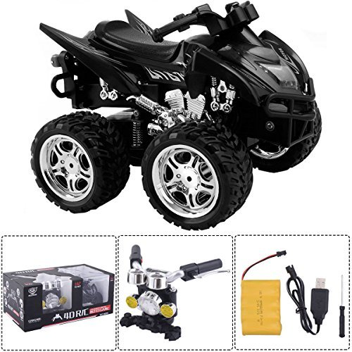 Costzon 1/12 Scale 2.4G 4D R/C Simulation ATV Remote Control Motorcycle Kids Car Toys
