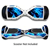 Two Wheels Self Balancing Electric Scooters Vinyl Stickers Balance Board Skins Hover Boards Protective Decals Skate Board Covers for Smart Bluetooth Mobility Scooter - Blue Fire