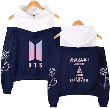 WDLY-MM KPOP BTS Love Yourself Camiseta Jimin Suga V Jungkook Sudadera con Capucha Mujer