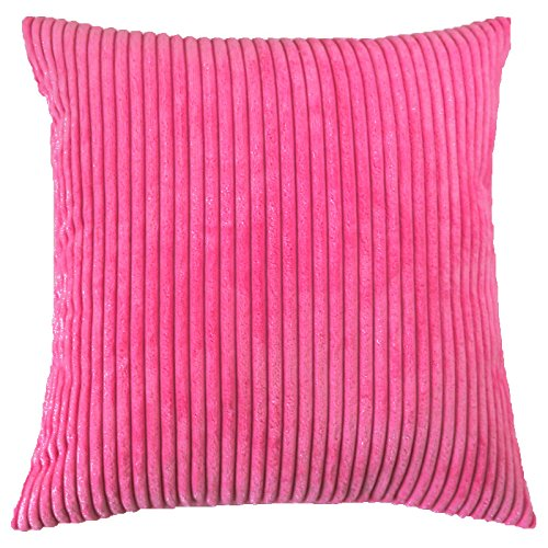 Striped Corduroy Velvet Decorative Pillow Covers - Set of 2
