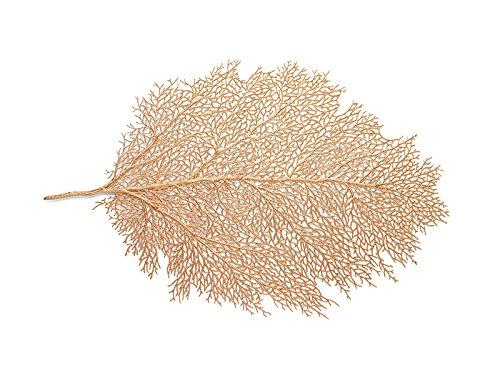 Harman Metallic Leaf Placemat Medium Size 11.5