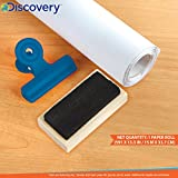 Discovery Kids 3-in-1 Tabletop Dry Erase Chalkboard Painting Art Easel, Includes Paper Roll and Oversized Clip, 17 x 15 Inch Wood Frame, Perfect for Children 3+   Foldable/Portable for Countertop Play