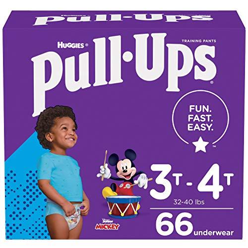 Pull-Ups Boys' Potty Training Pants Training Underwear Size 5, 3T-4T, 66 Ct
