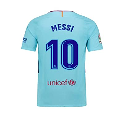 quality design c2710 38e36 Beermiaud Mens #10 Messi Away Barcelona Soccer Jersey Blue