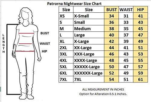 6de3ac3a88 Patrorna Women s Lace Trim Midi Length Nighty Nightdress with Net Shrug (Size  XS-7XL
