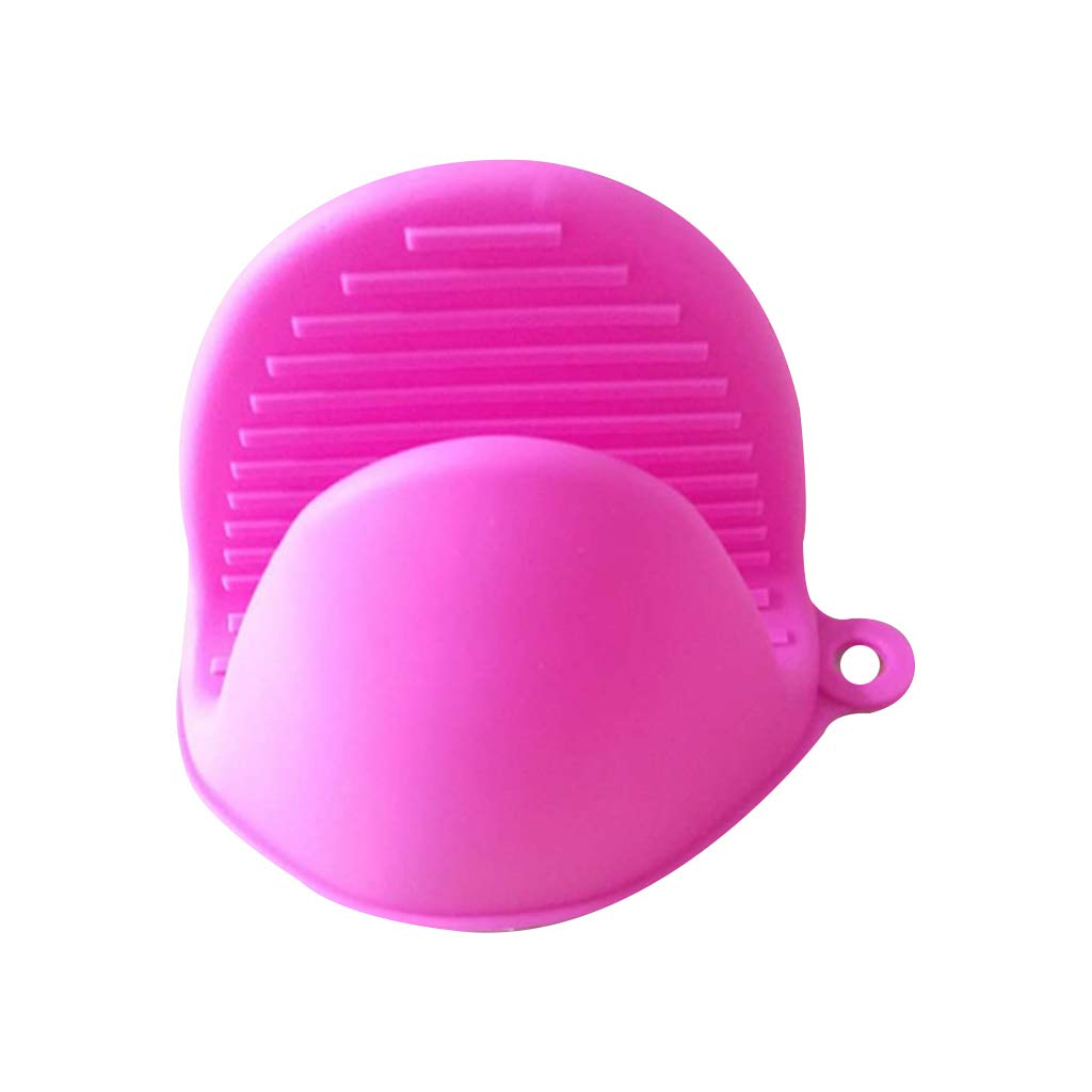 1 Piece Silicone Clip Pot Holder Mini Oven Mittens Cooking Pinch Grips Non-Slip Kitchen Baking Potholders Heat Resistant Glove Hot Pad Hot Pink Kofun Oven Glove