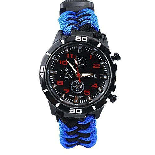 Survival Bracelet Watch, Outdoor Men & Women...