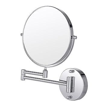 Merveilleux Wall Mount Makeup Mirror, Cozzine 7x Magnifying Two Side Vanity Extendable  Bathroom Mirror, Chrome