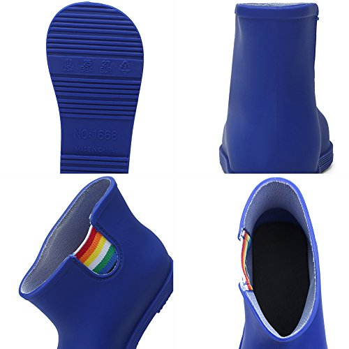 CIOR Little Kids Waterproof Animal Rain Boots Various Colors For Girls Boys Toddler Water Shoes,TYX03, Blue,26 - Image 5