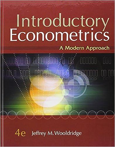 introductory econometrics wooldridge 5th edition solution manual