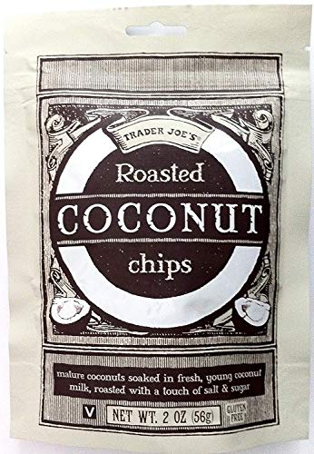 Trader Joe's Roasted Coconut Chips Gluten Free 2 0z. Bag