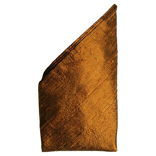 (Copper Dupioni Silk Pocket Square - Full-Sized 16