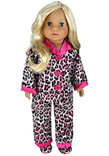 db1ad817c6 Doll Clothing for 18 Inch Doll Pajama Set   Doll Slippers