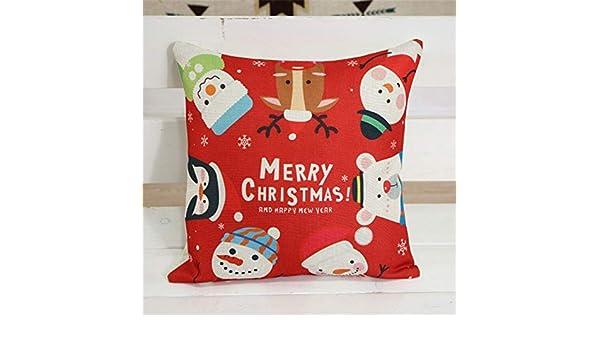 Amazon.com : PULLANDSMILES 1PCS Christmas Cartoo Cushion ...