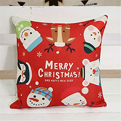 Amazon.com : PULLANDSMILES 1PCS Christmas Cartoo Cushion ...