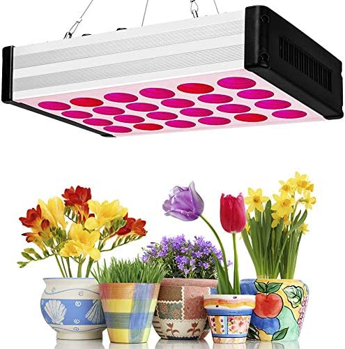 Led Grow Light 1000W, Bozily Indoor Plants Full Spectrum Grow Lamps with Dimmable Knobs Hanging Kit Daisy Chain 168 LEDs for Coverage Veg and Flowers ,Led Growing Plant Lights