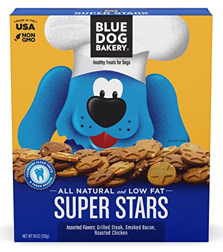 Blue Dog Bakery | Dog Treats | All-Natural | Low-Fat | Assorted Flavors | 18oz (Pack of 6)