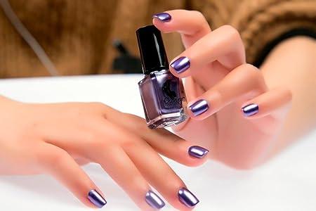 6 Colors Mirror Metallic Nail Polish Effectmingfay Nail Art Chrome