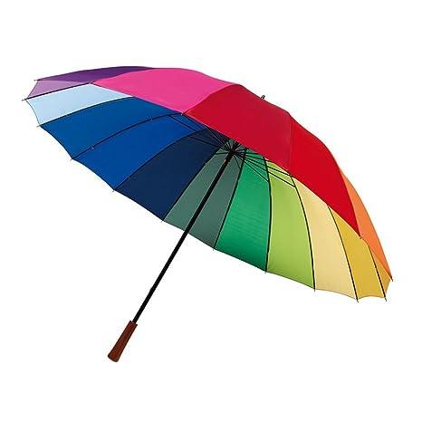 Golf pantalla Stock pantalla 16 segmentos paraguas en colores del arco iris ø131 cm