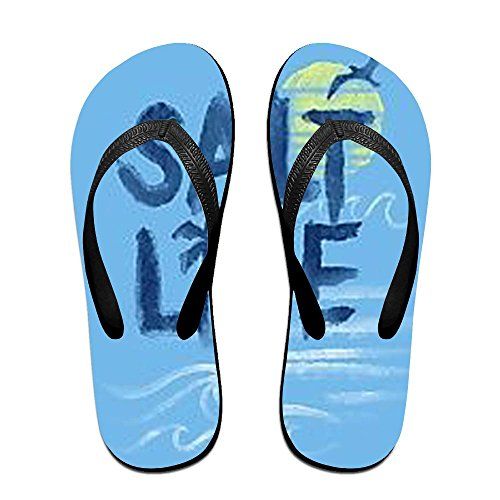 for Kids Men Black PTJHKET Salt Life Flip Slippers Flops Women v8pWqX1WcR