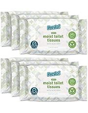 Amazon-merk - Presto! zachte vochtige toiletweefsels - Aloë Vera - fijn om te spoelen, verpakking van 240 (40 weefsels x 6 verpakkingen)