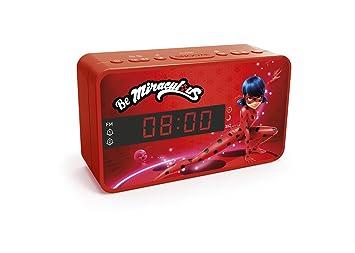 Miraculous Ladybug y Cat Noir - Radio FM Despertador con Doble Alarma, Color Rojo: Amazon.es: Electrónica