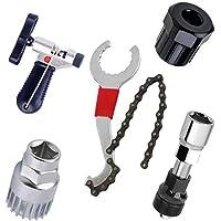 Fokine - Kit de Herramientas de reparación para Bicicleta de montaña, Extractor de Cadena, Extractor de pedalier, Extractor de manivela, Herramientas para Bicicleta al Aire última intervensión