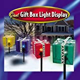 GIANT CHRISTMAS GIFT BOX LIGHT YARD DISPLAY