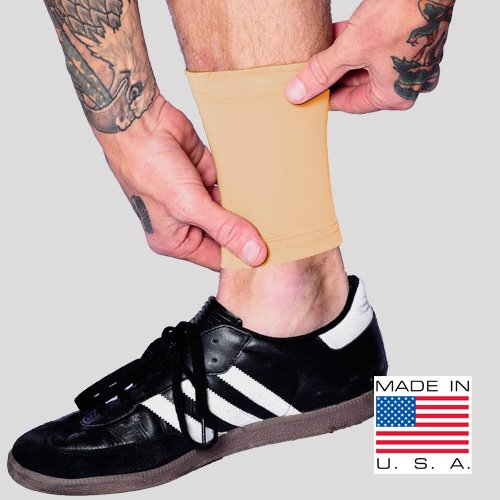 """Tat2X Ink Armor Premium Ankle 6"""" Tattoo Cover Up Sleeve - No Slip Gripper - U.S. Made - Light - ML (Single six inch Ankle Cover up Sleeve)"""