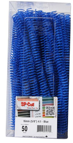 16mm (5/8) 12 Plastic Coil Binding - Blue 50pk