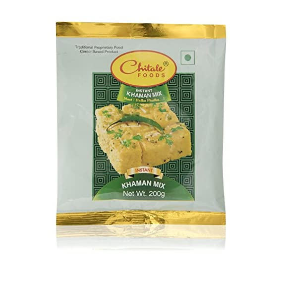 Chitale Bandhu Mithaiwale Instant Khaman Mix, 200 Grams (Pack of 5)