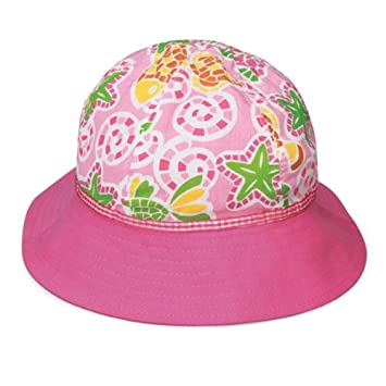 7be50695031 Wallaroo Girl s Platypus UV Sun Hat - Pink Starfish