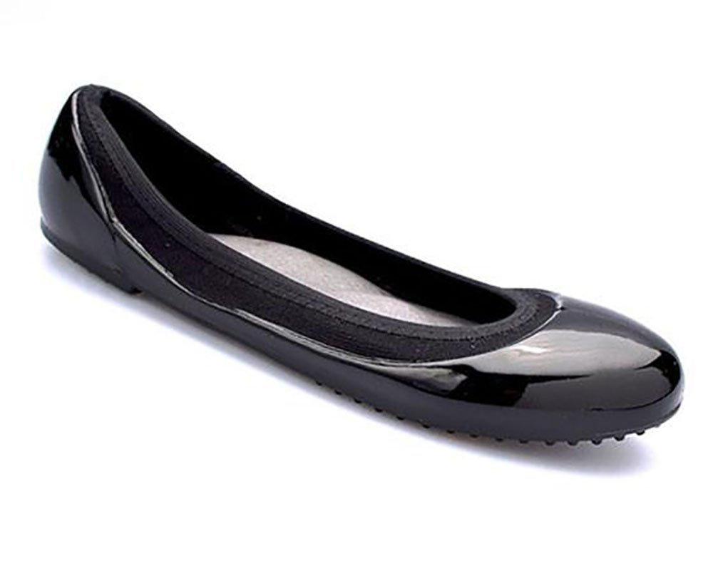 JA VIE Womens Summer Shoes Womens Ballet Flats Style for Every Day Wear Driving, Black/Black SZ 39