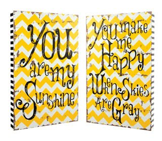 """""""You Are My Sunshine"""" Wood Wall Art - Set of 2"""