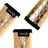 Cosmos Pack of 3 Metallic Gold Color Fashion PU