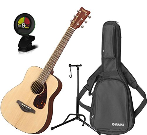 Yamaha JR2 3/4 Scale Natural Folk Guitar w/Gig Bag, Stand, a