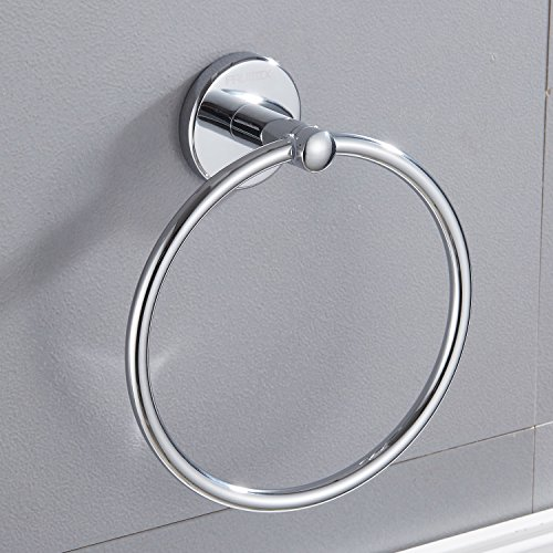 Circle Arc (Bathroom Towel Ring Wall Mount Hardware Faumix Chrome Arc Circle Towel Holder)