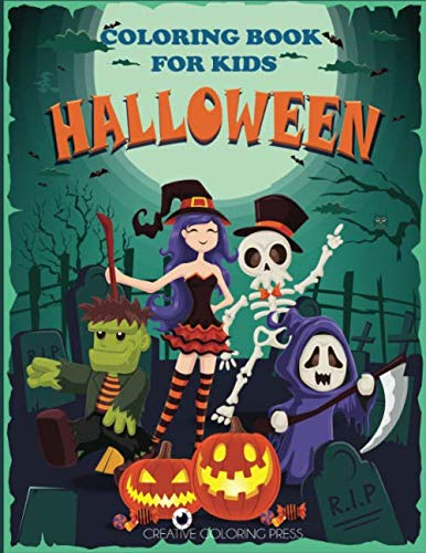 Halloween Coloring Book for Kids: Halloween Designs Including Witches, Ghosts, Pumpkins, Haunted Houses, and More! (Kids Halloween