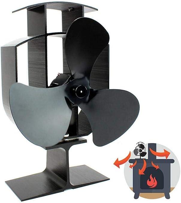 hook.s Ventilador de Chimenea, Ventilador de Chimenea de energía Caliente, Ventilador sin alimentación para Estufas de Chimenea, Funcionamiento silencioso para Madera/Estufa de leña/Fuego: Amazon.es: Hogar