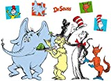 BirthdayExpress Dr Seuss Party Room Decorations - Book Character Group Life Size Cardboard Stand Up