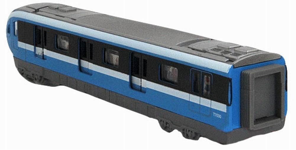 simulation locomotive Toy train miniature jouet m/étro bleu 18,5 * 4,5 * 3,5cm