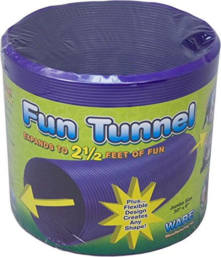 Ware Manufacturing Fun Tunnels Play Tube for Small Pets, 30 X 8 Inches - Large (Tunnel Plastic)