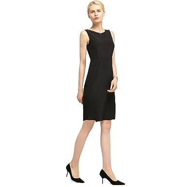ab71b83b7cae2b LilySilk Elegante Seidenkleider Partykleider Knielang Schwarze A-Linie  Cocktailkleider Damen aus Seide von 18 Momme Verpackung MEHRWEG: Amazon.de:  ...