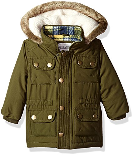 Boys Ski Jacket Coat (Carter's Baby Boys' Heavweight Parka Jacket Coat, Olive, 12 Months)