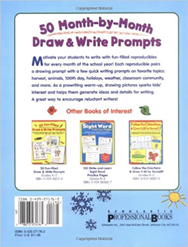 Counting Number worksheets kindergarten sentence writing worksheets : Amazon.com: 50 Month-by-Month Draw & Write Prompts: Engaging ...