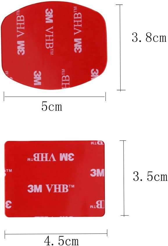 Shoot 30Pcs Red 3M VHB Adhesive Sticker for Gopro Hero 4 3 2 3 SJ4000