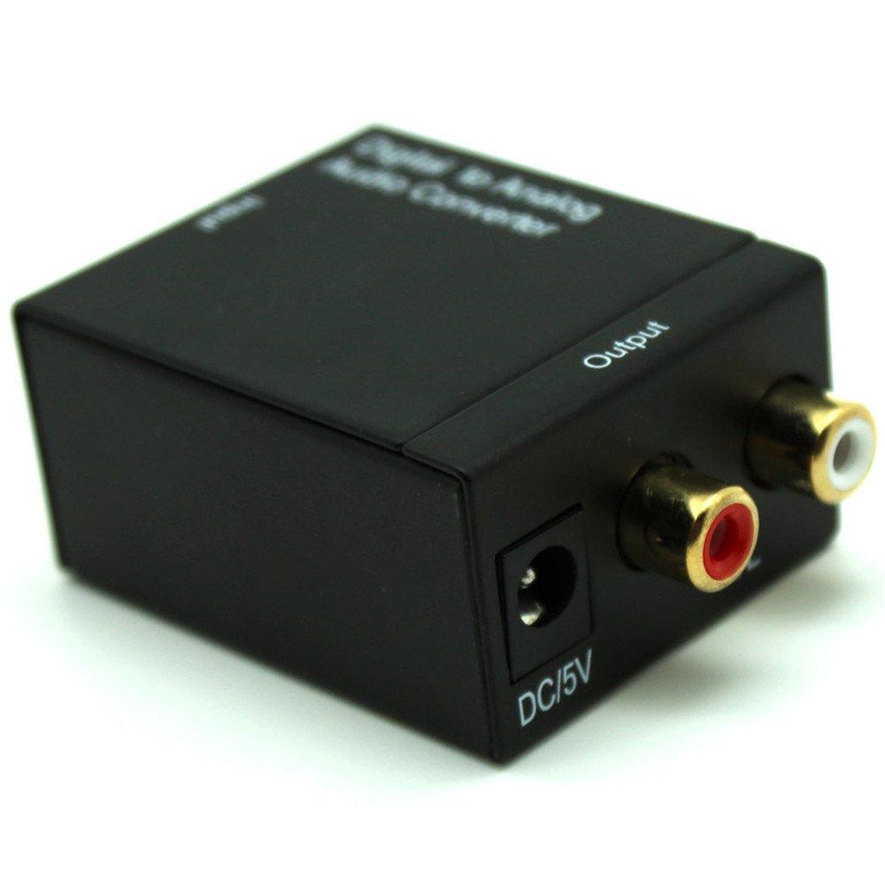 1JUSTLINK Digital to Analog Audio Converter Adapter Digital Adaptador Optic Coaxial RCA Toslink Signal to Analog Audio Converter