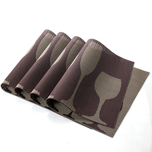 Uartlines Rectangle Placemats Insulation Stain resistant