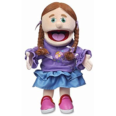 "14"" Amy, Peach Girl, Hand Puppet: Toys & Games"